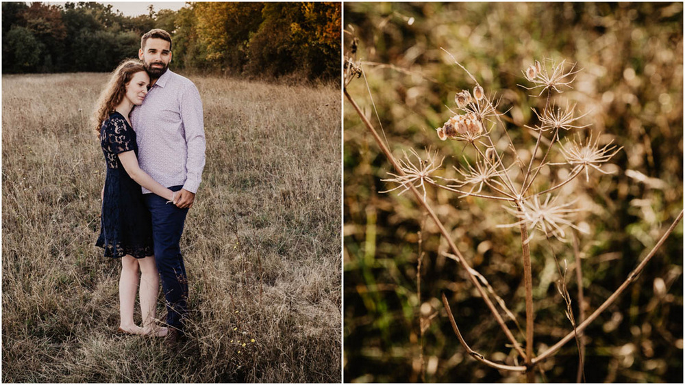 une seance engagement - a la golden hour - photographe mariage - naturel - champs - campagne
