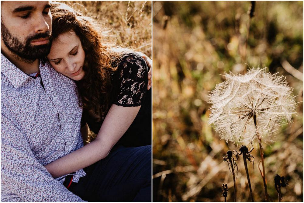 lovers - couple - amoureux - champs - nature - photographe mariage eure et loir - orne - yvelines - champetre - coucher du soleil