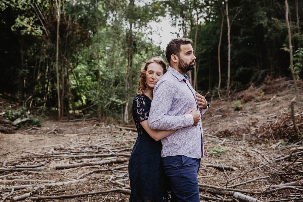 couple d'amoureux - une seance engagement - photographe eure et loir - amour - mariage