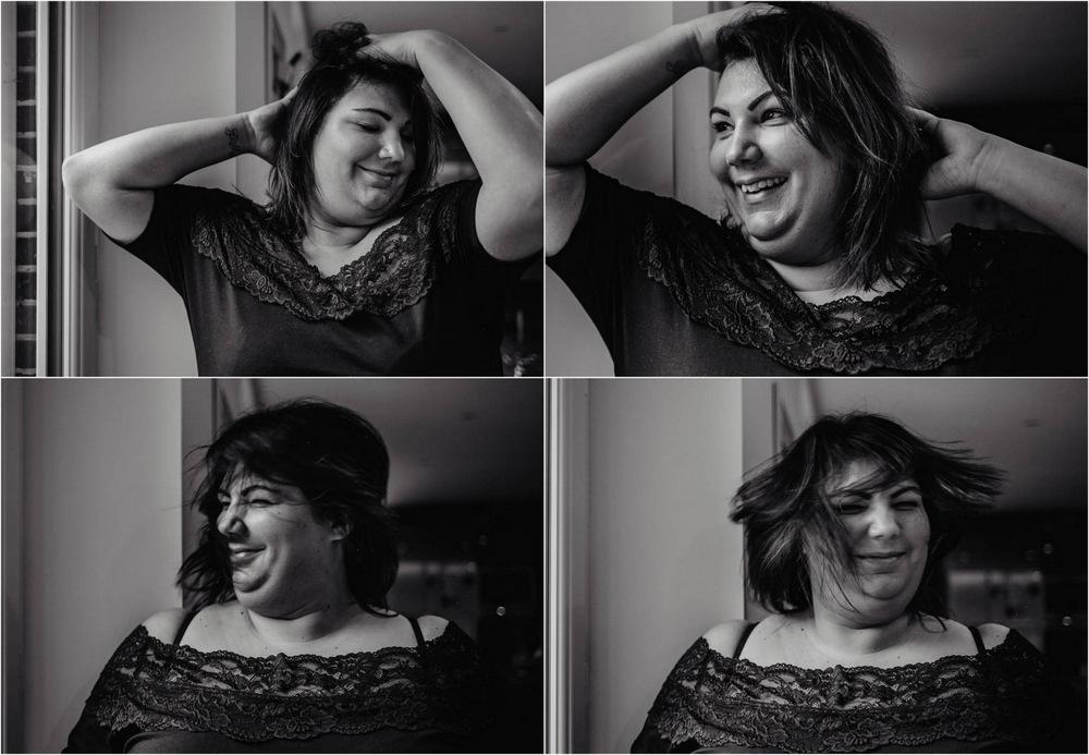 joie - folie - portraits de femmes heureuses - amour - oser - photographe de portraits - black & white