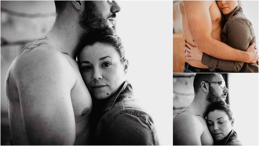 shooting couple boudoir cocooning - photographe eure - intimite - naturel