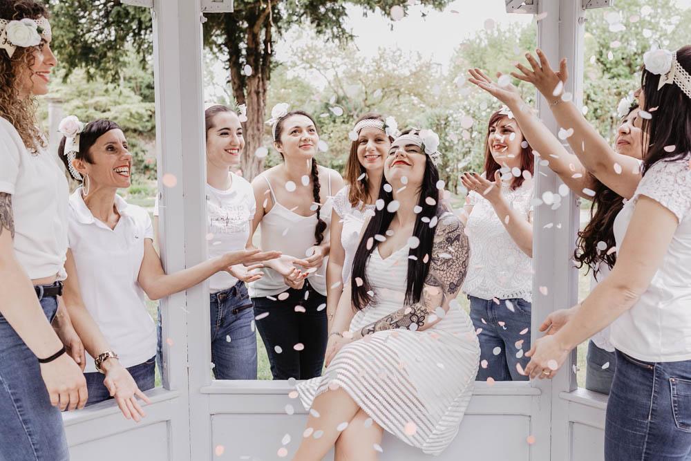 photographe eure et loir - evjf chic et champetre - yvelines - rambouillet - chartres - confettis - future mariee - copines
