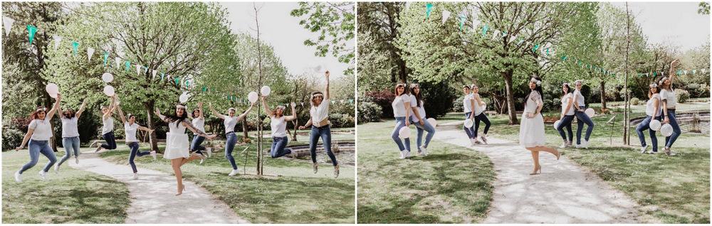 evjf - rambouillet - chartres - ballons - evjf champetre - t shirt blanc et jeans - entre copines