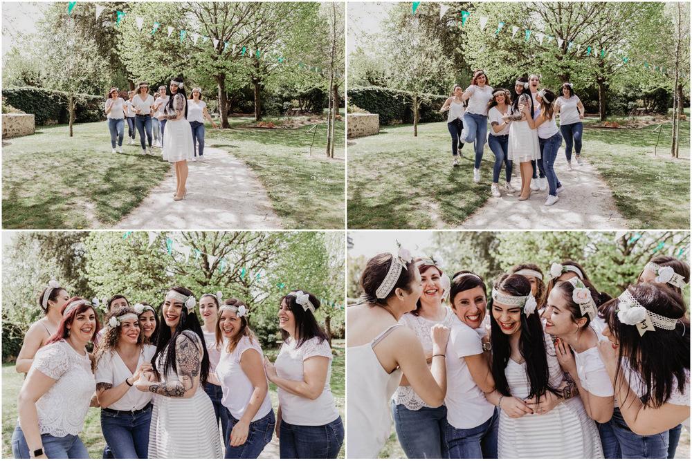 yvelines - evjf rambouillet - evjf champetre - dress code blanc et jeans - fun - bonne ambiance - delires - rires