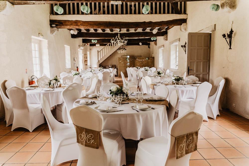 photographe eure et loir pour mariages - manoir de vacheresses - salle de reception - decoration de salles