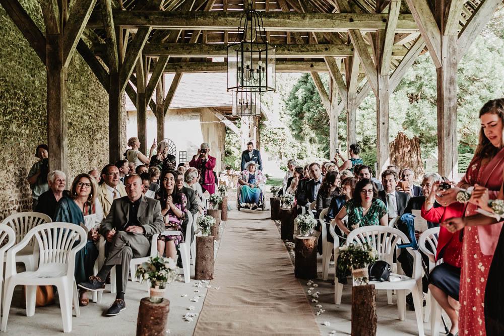 photographe de mariage - eure et loir - manoir de vacheresses - ceremonie laique - champetre