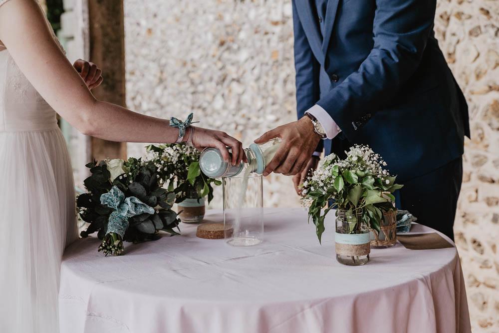 rituel des sables - ceremonie laique - photographe mariage eure et loir - orne - champetre