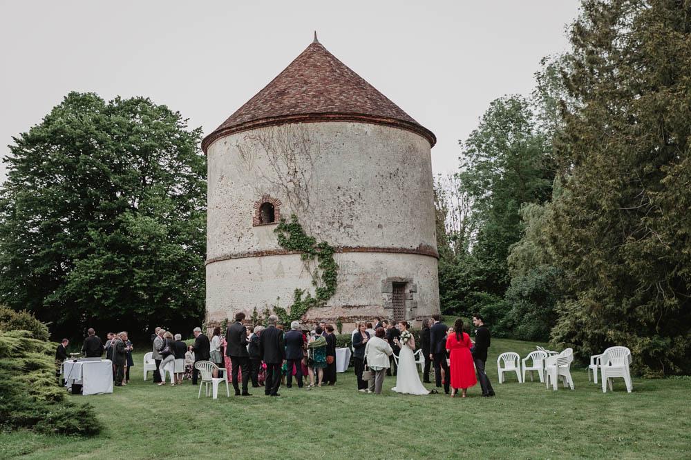 mariage champetre - cocktail - pigeonnier du manoir de vacheresses - photographe eure et loir