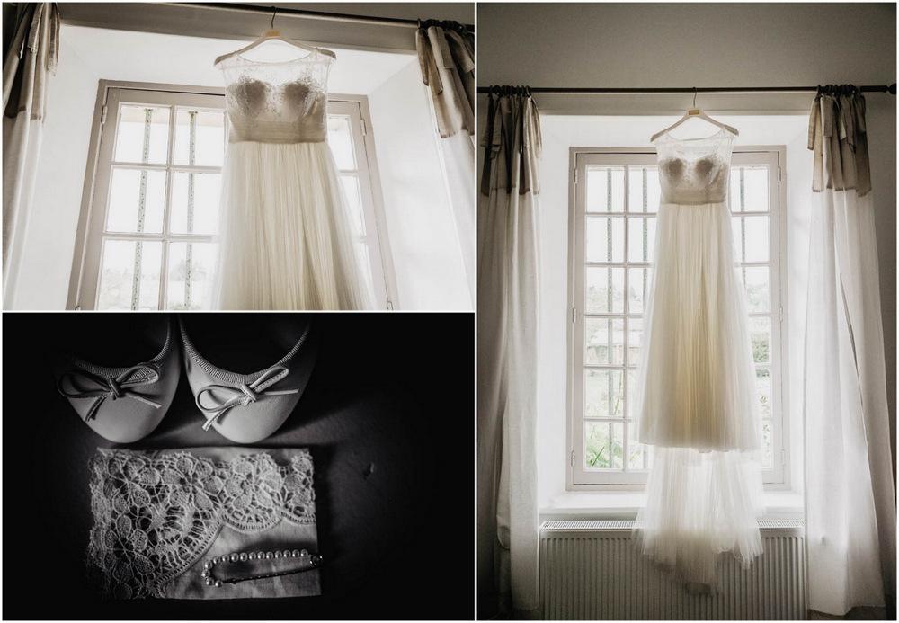 robe de mariee aire barcelona - manoir de vacheresses - dentelle - champetre - photographe pour mariage - 28