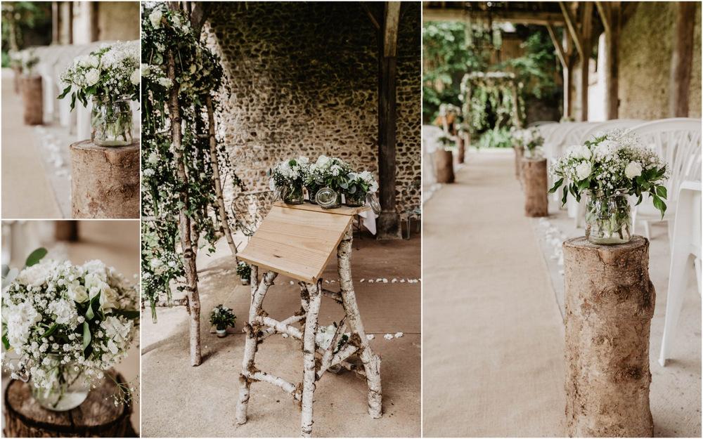 photographe eure et loir - ceremonie laique - champetre - arche en bouleau - deco florale - mathieu hervot fleuriste