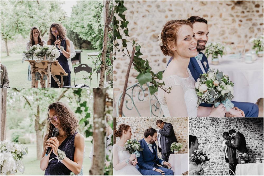 emotions - pleurs - sourires - ceremonie laique - mariage champetre - photographe en eure et loir