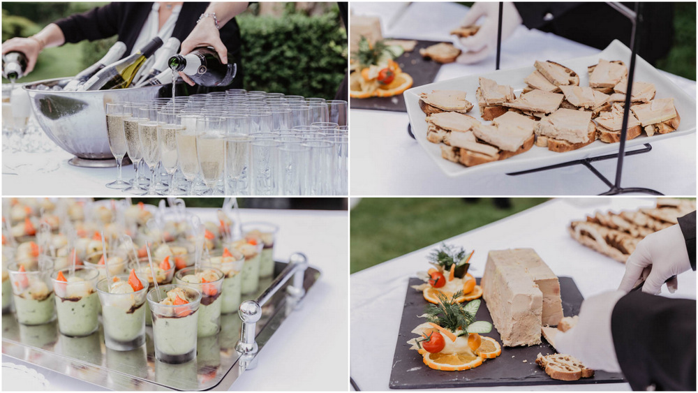 vin d honneur - cocktail - foie gras - photographe mariage - eure et loir - yvelines - orne - eure