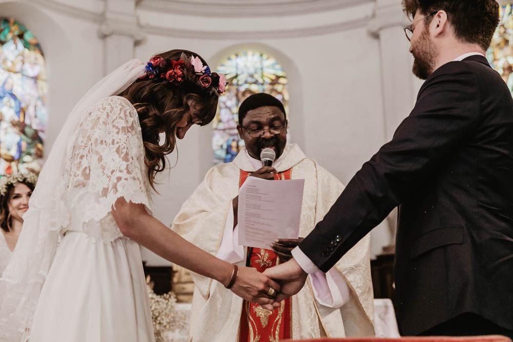 ceremonie religieuse - eglise de la ferte vidame - photographe mariage verneuil sur avre - chartres - evreux - perche - orne