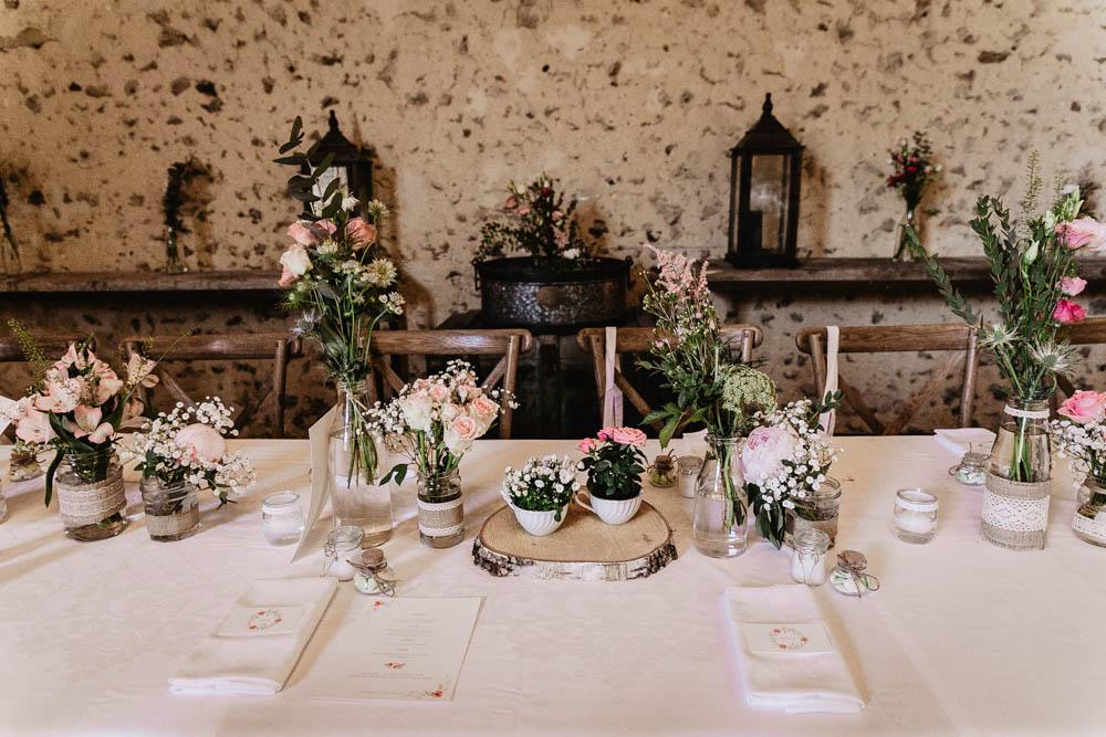 table des maries - domaine des evis - ferte vidame - photographe mariage - orne - perche - eure et loir
