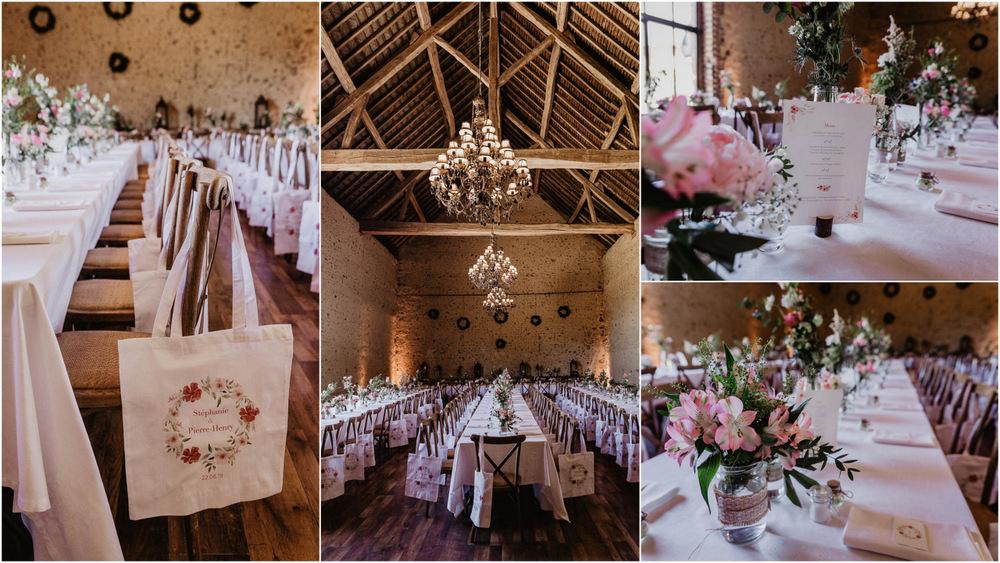 decoration de table - fleurs - mariage dans le perche - photographe mariage - eure et loir - orne - boheme chic - champetre