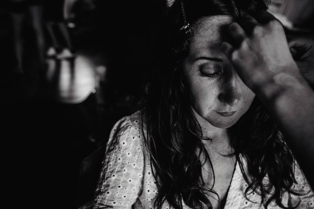 noir&blanc - preparatifs de la mariee - maquillage - domaine des evis - photographe eure et loir - chartres - evreux - perche - orne - verneuil sur avre