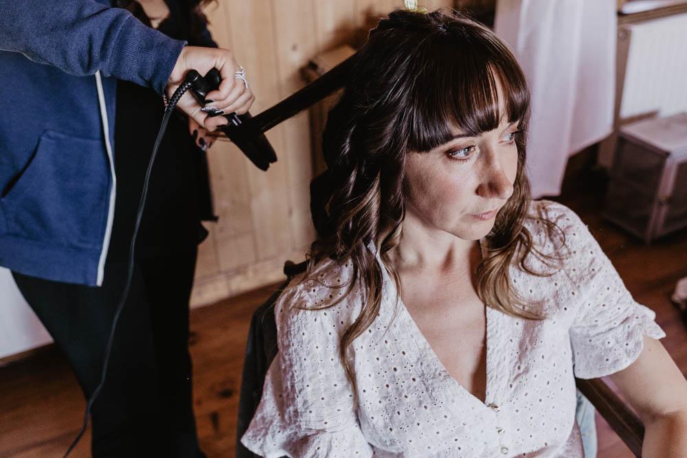 photographe eure et loir - domaine des evis - mariage boheme - coiffure de la mariee - verneuil sur avre - chartres - evreux - orne