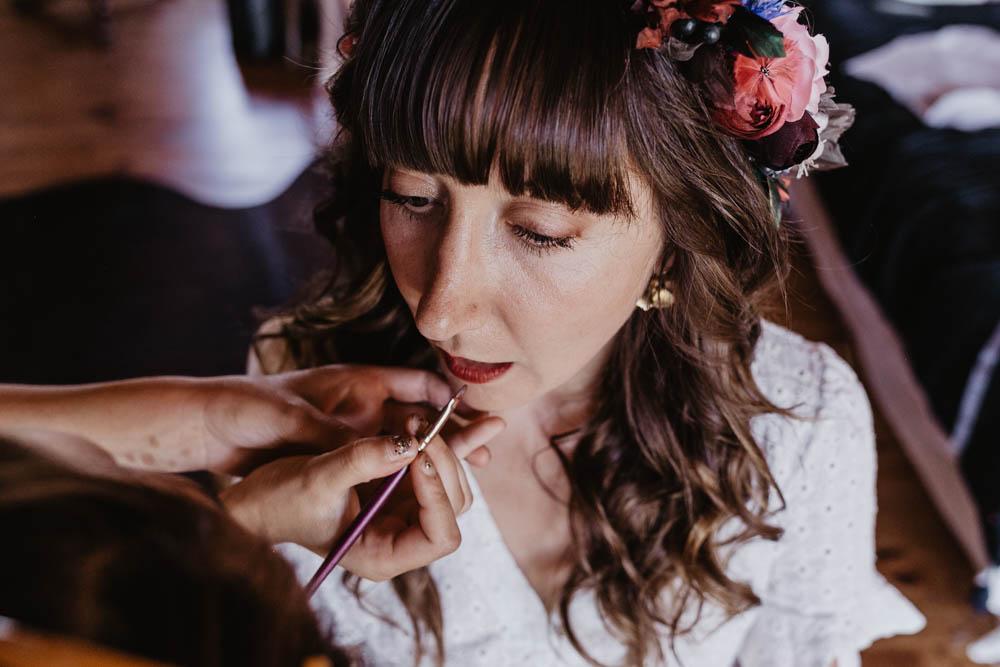 rouge a levres - maquillage de la mariee - photographe eure et loir - domaine des evis - perche - verneuil sur avre - chartres - evreux - orne