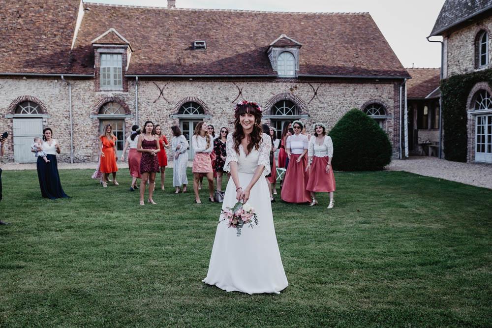 lancer du bouquet - domaine des evis - filles celibataires - photographe evreux - eure et loir - chartres - verneuil sur avre - champetre