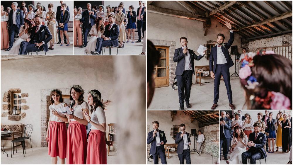 discours des temoins - surprises - animations - domaine des evis - photographe evreux - mariage verneuil sur avre - chartres - eure et loir - perche