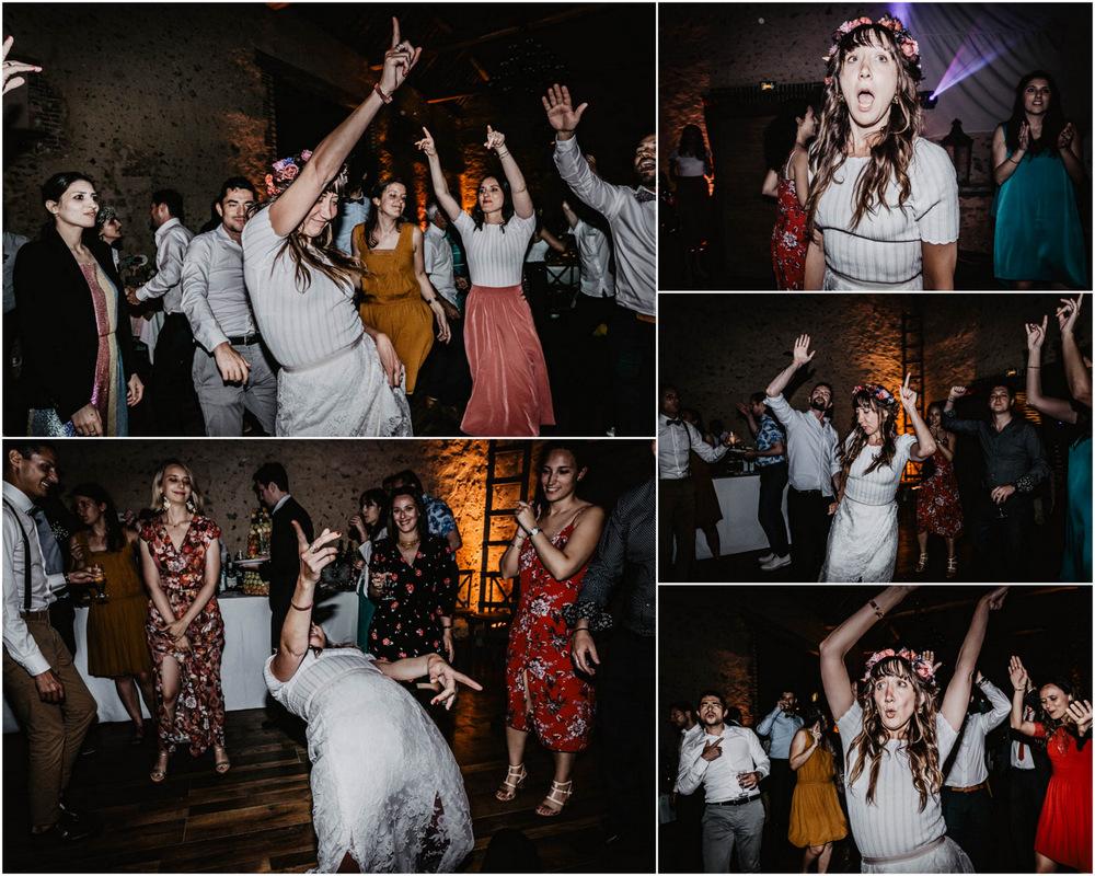 domaine des evis - la mariee se dechaine - sur le dancefloor - domaine des evis - photographe eure et loir - verneuil sur avre - chartres - evreux - ambiance - mettre le feu