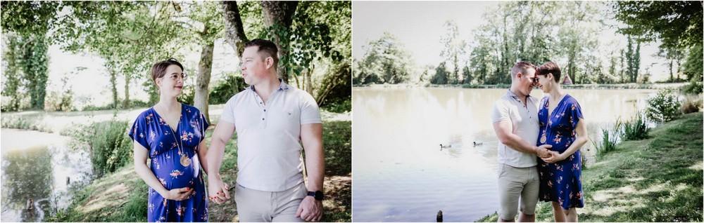seance photo - shooting grossesse - style naturel - en pleine nature - decontracte - photographe grossesse en eure et loir - chartres - verneuil sur avre - mortagne au perche