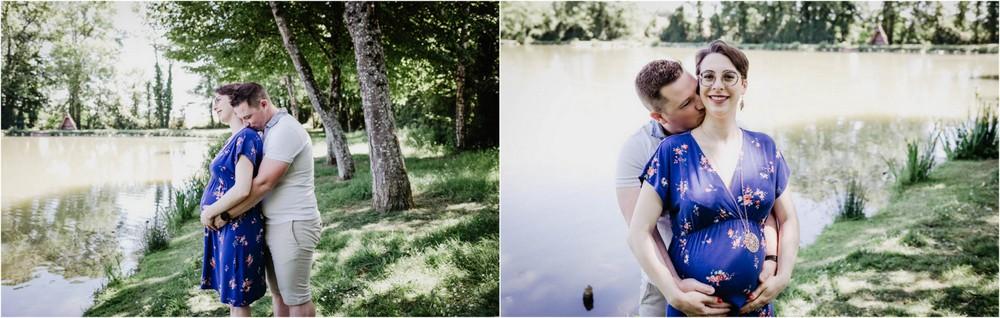 dans la nature - photographe grossesse dans le perche - eure et loir - senonches - mortagne au perche - chartres - maintenon
