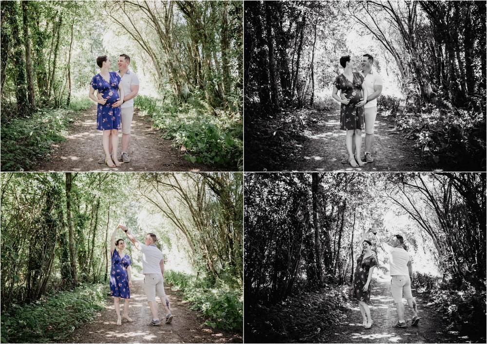 shooting grossesse - seance photo femme enceinte - photographe eure et loir - orne - senonches - chartres - en foret - en exterieur - dans la nature - lifestyle - photos prises sur le vif